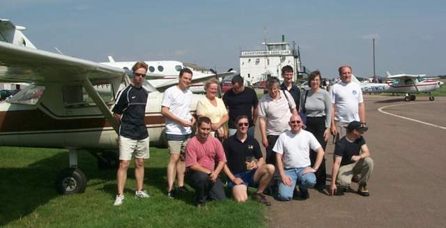 Attendees at the Leicester fly-in
