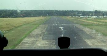 Landing at Elstree